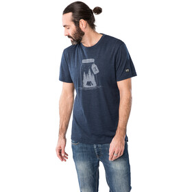 super.natural Graphic Tee Men, blue iris melange/light grey go camping